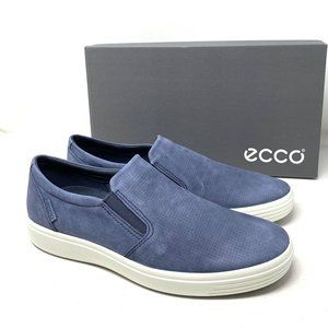 ECCO Soft 7 Perforated Slip-On Men Suede Sneakers